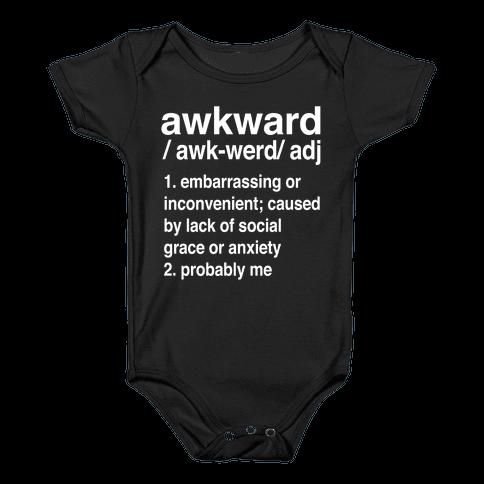 Awkward Definition Baby Onesy