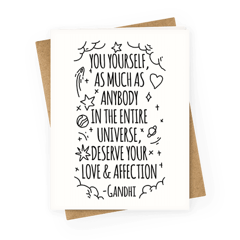 Love Yourself Gandhi Quote Greeting Card