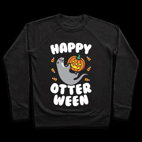Happy Otterween (White) Pullover