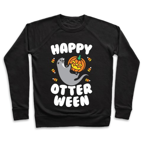 Happy Otterween (White) Pullover