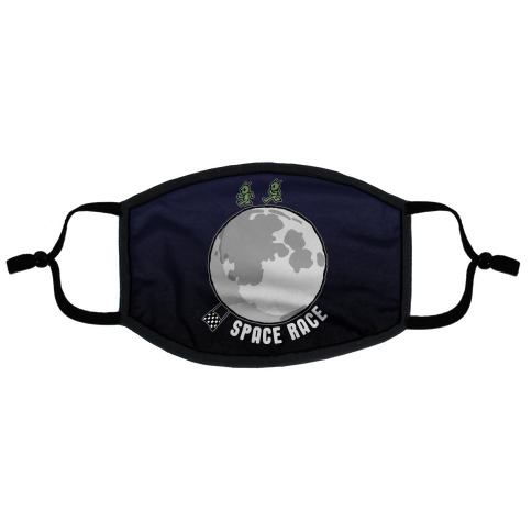 Space Race Flat Face Mask
