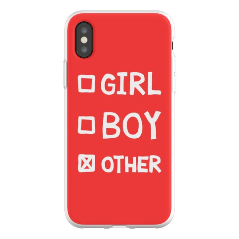 Non-Binary Gender Checklist Phone Flexi-Case