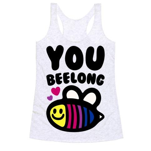 You Belong Bisexual Pride Racerback Tank Top