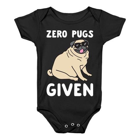Zero Pugs Given Baby Onesy