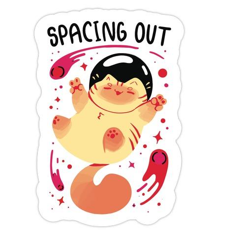 Spacing Out Die Cut Sticker