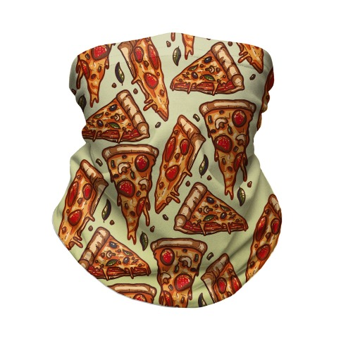 Pizzas Pattern Neck Gaiter