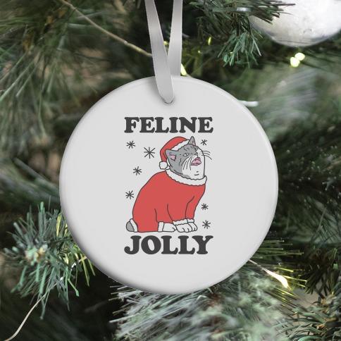 Feline Jolly Cat Ornament