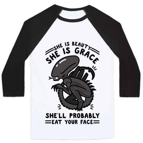 She'll Probably Eat Your Face Baseball Tee