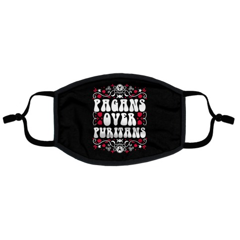 Pagans Over Puritans Flat Face Mask