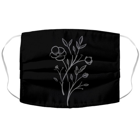 Wildflower Stippled Tattoo Face Mask