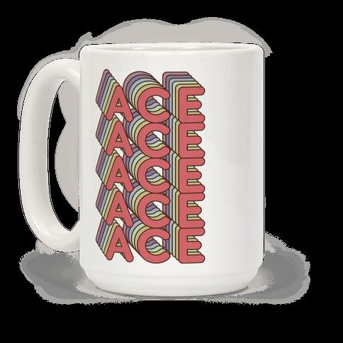 ACE Retro Rainbow Coffee Mug