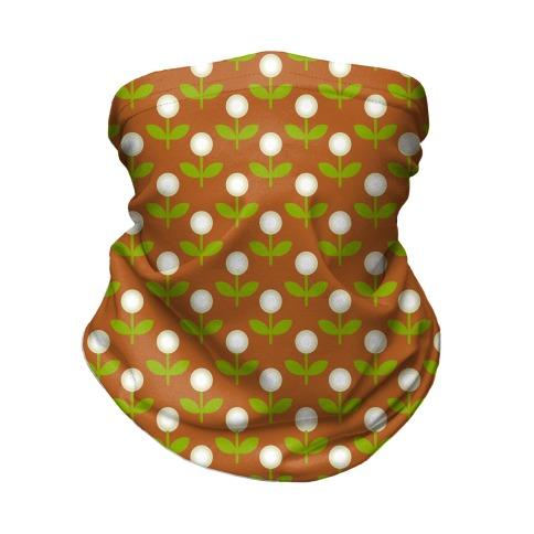 Dainty Retro Dandelions Brown Pattern Neck Gaiter