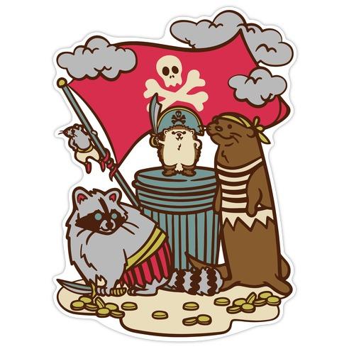 Captain Hedgie's Salty Crew Die Cut Sticker