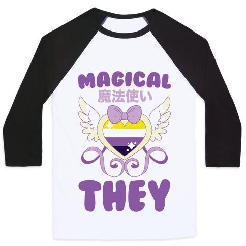 Magical They - Non-binary Pride Baseball Tee