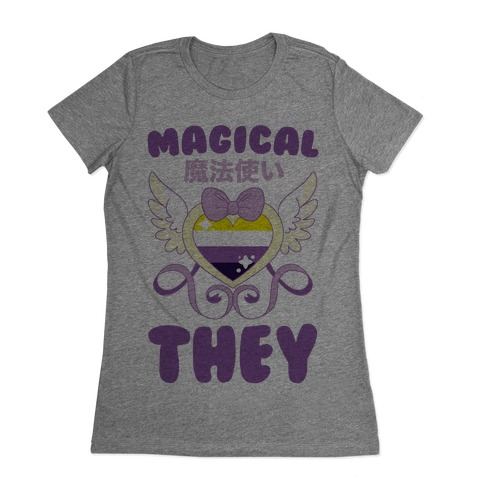 Magical They - Non-binary Pride Womens T-Shirt