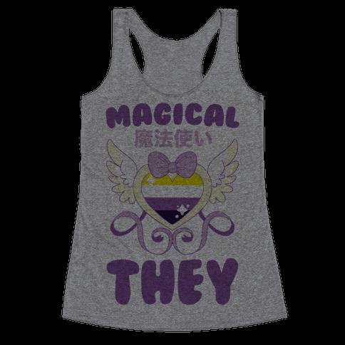 Magical They - Non-binary Pride Racerback Tank Top