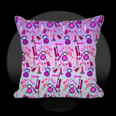 NSFW Makeup Pattern Pillow