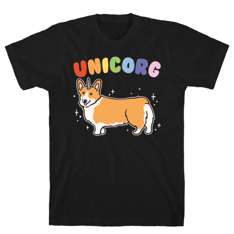 Unicorg Parody White Print Mens T-Shirt