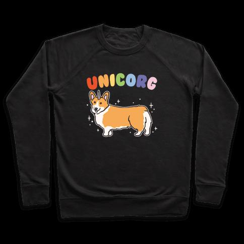 Unicorg Parody White Print Pullover