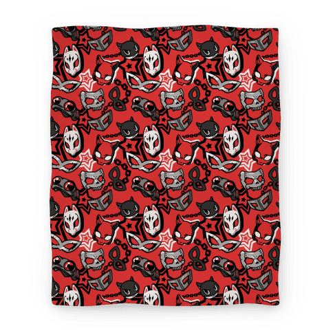 Persona Masks Pattern Blanket