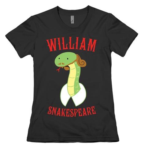 William Snakespeare Womens T-Shirt