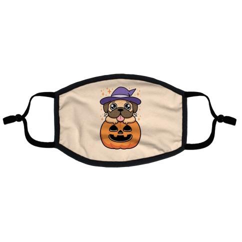 Halloween Pug Flat Face Mask