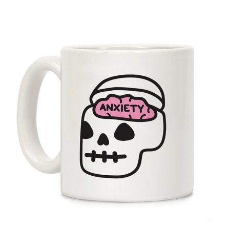 Anxiety Holder (Skull) Coffee Mug