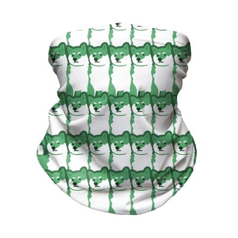Shiba Green Hue Neck Gaiter