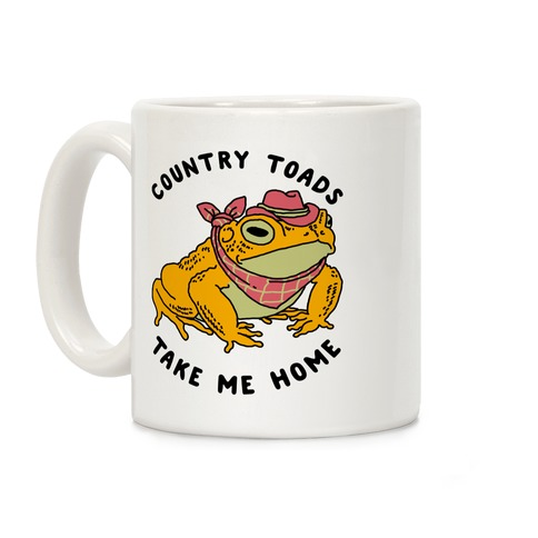 Country Toads Take Me Home Coffee Mug