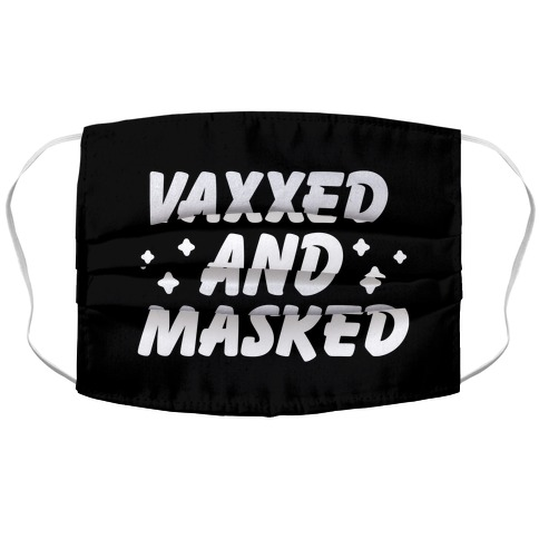 Vaxxed And Masked Accordion Face Mask