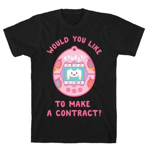 Kyubey Digital Pet Would You Like To Make a Contract? T-Shirt