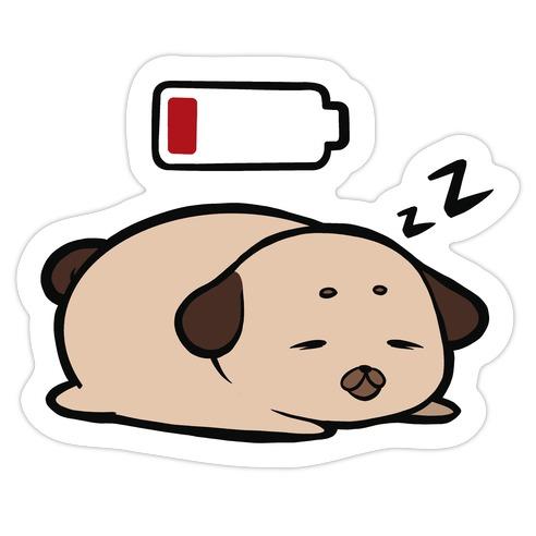 Power Nap Die Cut Sticker