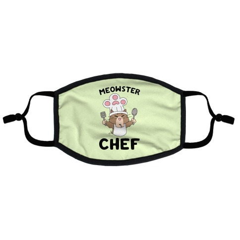 Meowster Chef Flat Face Mask