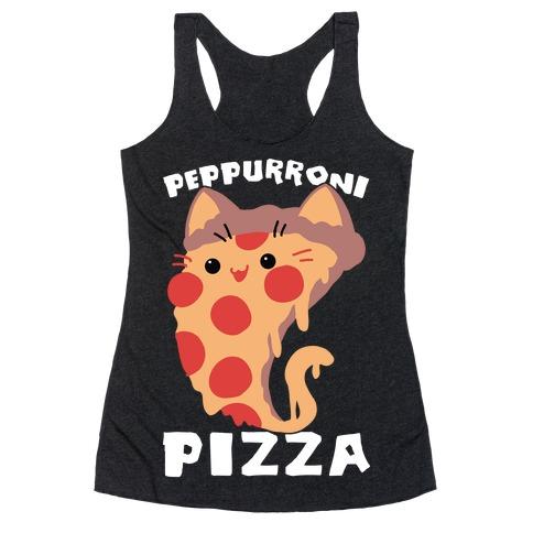PepPURRoni Pizza Racerback Tank Top