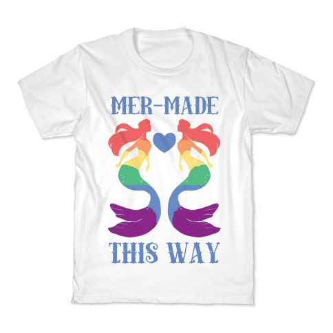 Mer-Made This Way - Gay Kids T-Shirt