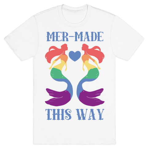 Mer-Made This Way - Gay Mens T-Shirt