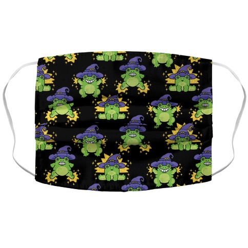 Magical Frog Witch Pattern Accordion Face Mask