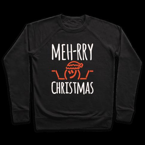 Meh-rry Christmas Parody White Print
