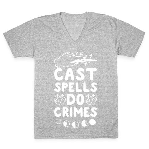 Cast Spells Do Crimes V-Neck Tee Shirt