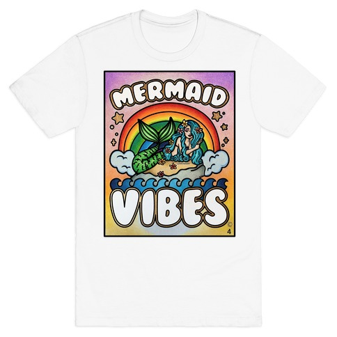Mermaid Vibes Coloring Sheet Winner T-Shirt