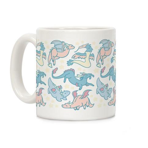 Dreamy Dragon Pattern Coffee Mug