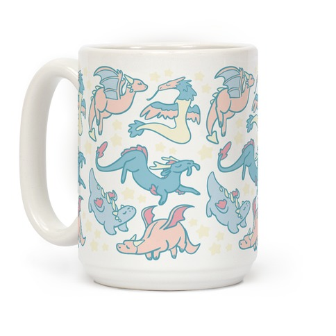 Dreamy Dragon Pattern Coffee Mug