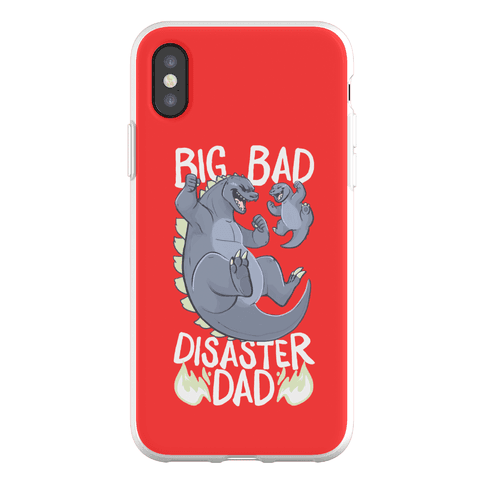 Big Bad Disaster Dad Godzilla Phone Flexi-Case