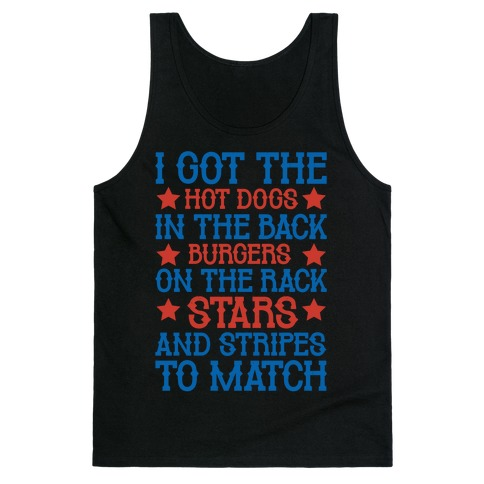 Old Town Road Fourth of July Parody White Print Tank Top