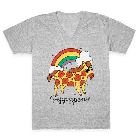 Pepperpony V-Neck Tee Shirt