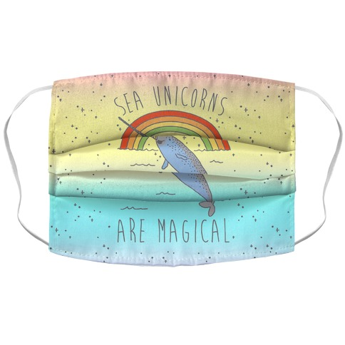 Sea Unicorns Are Magical Accordion Face Mask