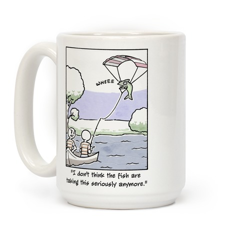 The Fish Aren't Taking This Seriously Coffee Mug