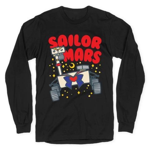 Sailor Mars Perseverance Parody White Print Long Sleeve T-Shirt