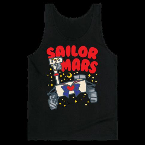 Sailor Mars Perseverance Parody White Print Tank Top