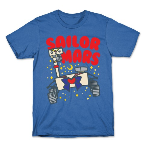 Sailor Mars Perseverance Parody White Print T-Shirt